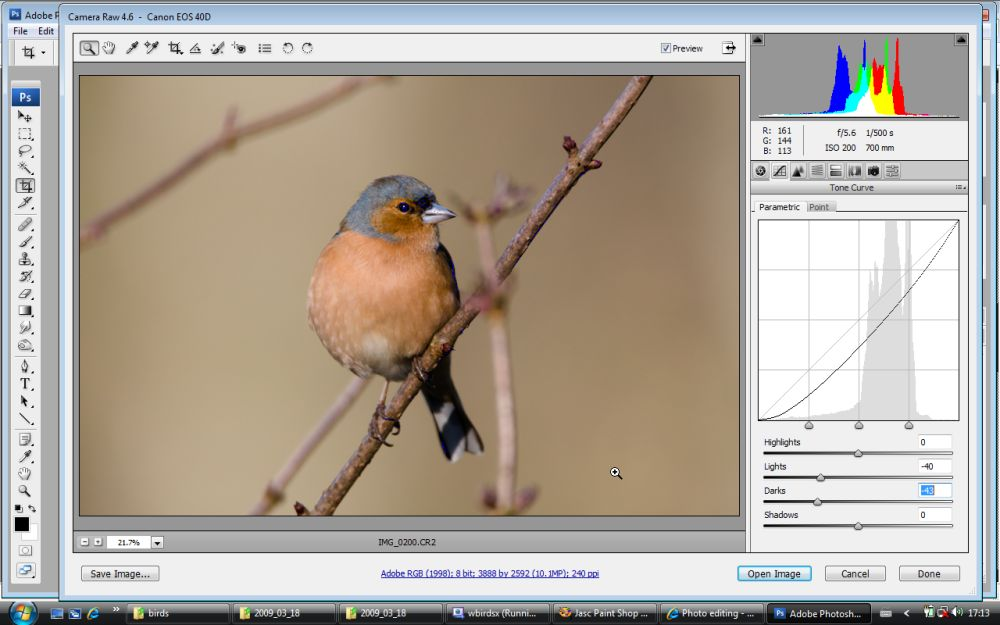 how to open raw images in ps cs3